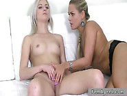 Lesbian Amateur Masturbates On Casting For Female Agent