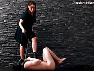 Mistress Nicole Control's And Piss On Slave
