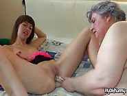Granny And Teen Dildoing Solo