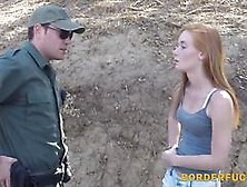 Pale Redhead Teen Caught By Border Guards And Fucked Outdoors Fo