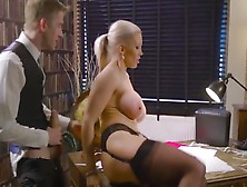 Secretary Rebecca Moore Gets All Her Holes Fucked