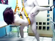 Mature Couple Fucking On A Sex Swing