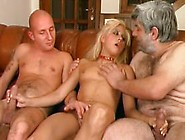 Father Teaches Not His Slut Daughter Three-Way