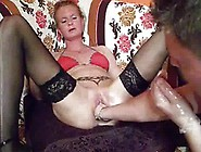 Fist Screwing The Wifes Oustanding Tunnel Till She Squirts