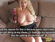 Busty Blonde Is Doing Everything She Can To Become A Pornstar An