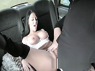 Huge Boobs Babe Sucks Taxi Drivers Balls