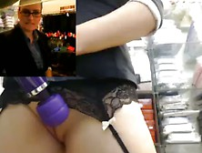 Amazing alice axx uses a vibrator while getting fucked in public 3