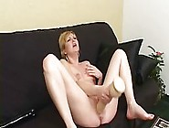 Blonde Milf,  Jacinda Is Shoving Her Big Dildo Deep In Her Pussy,