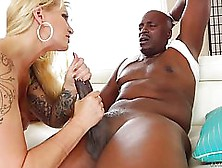 Oiled Blonde Woman,  Ryan Conner Likes To Suck A Huge,  Black Dick
