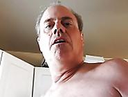 Naked Mature Man Peeing In Sink.