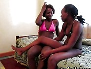 Two Hot Ebony Lesbian Babes Having Some Fun In The Bedroom