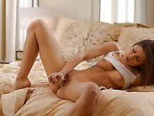 Caprice Likes Her Bald Pussy When It Is Bulging With Objects