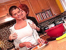 Joslyn James And Lily Cade Enjoy A Lesbian Game In A Kitchen
