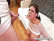 Piss: Naked Brunette Fisting Her Sweet Pussy