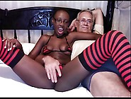 Pitch-Black Teen Beauty Webcam Showoff
