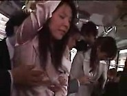 Two Japanese Wifes Businesswoman Groped And Fuck In Bus