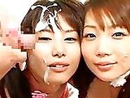 Japanese Lesbians Get Hot Bukkake