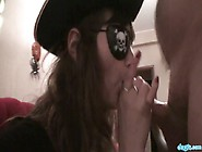 Naughty Teen Wearing Pirate Costume Gives Her Head And Gets Fuck