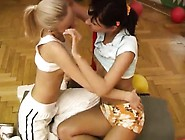 Teens Like It Big Black Cindy And Amber Penetrating Each Oth