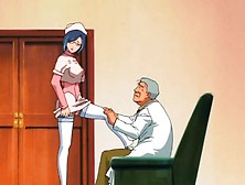 Old Man Sucked On By The Young Nurse