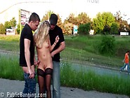 Risky Public Sex Threesome