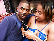 Dirty Ebony Slut Desire Gives A Head Masturbating With A Dildo