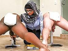 Mia Khalifa In Black Vs White,  My Ultimate Dick Challenge.  - Ban