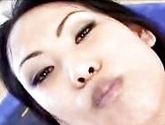 Cute Asian Bitch Drinks Cum From A Glass Cup
