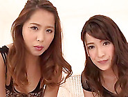 Pair Of Girls,  Tsuno Miho And A Friend,  Satisfying Her Lucky Boy