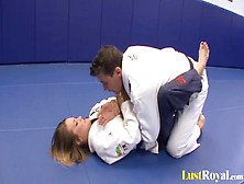 Sexy Megan Fenox Seduces Her Wrestling Coach
