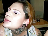 Hot Tattooed Amateur Chick Sucking A Cock And His Balls Until He