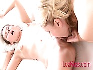 Busty Mom Seducing Young Babe At Home