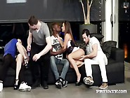 Amirah Adara And Misha Cross In An Orgy With Their Workmates