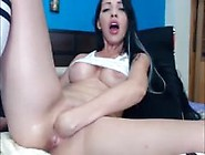 First Time Self Fisting.  Downloaded From 720Cams. Com