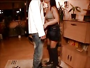 Amateur In Mini Skirt And Boots Gets Quickie