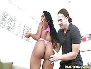 Tarzan Fucks Adrianna Knight's Hot Black Pussy