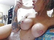 Big Tits Cam Whore Trains Her Throat