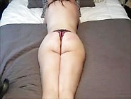 Submissive Slut Wife Spanked And Stuffed With Panties Until She