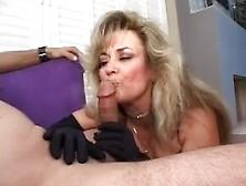 Anjelica Fox Has Fun Milking A Cock Dry