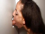 Wild Brunette Amateur Getting Fucked Through A Glory Hole
