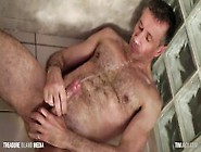 Pissing And Dildo Fucking Muscle Dad
