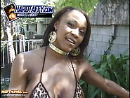 Busty Black College Freak Striptease By Vida Valentine
