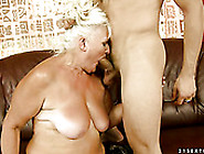 Mature Chubby Blondie Judi Gives Head To Her Horny Stud