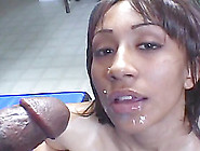 A Cute Ebony Amateur Works Up A Sweat Sucking And Riding A Guy