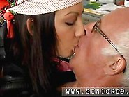 Slim Teen Shows Compassion For An Old Man With A Blowjob
