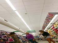 Supermarket Hottie With Tanned Legs