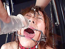 Naughty Asian In Bondage Is Tortured And Acquires Facial Bukkake