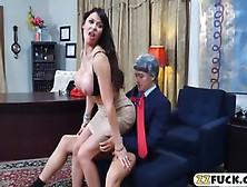 Massive Boobs Eva Karera Anal Pounded On Office Desk