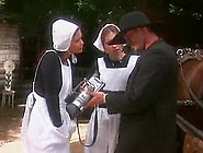 Hot Amish Daughter's Friend Fucked In All Holes. F70