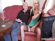 Spoiled Blonde Susi Muller Sits On Husband's Face And Sucks Dick